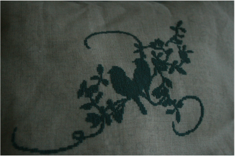 Bird embroiderey